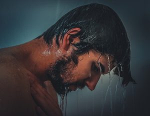 take a hot shower to relieved a stuffy nose